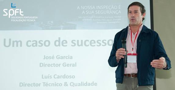 "Mr. Jose Garcia – CEO SPFT speaking at ""Descubra as Inspecções e Auditorias do Futuro"""