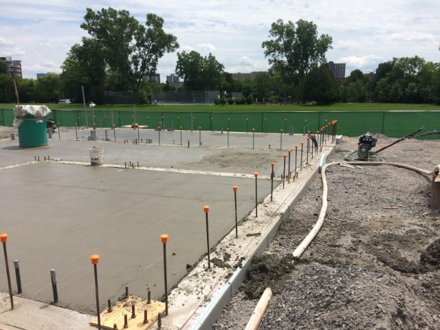 Concrete pour for Odour Control Facility floor