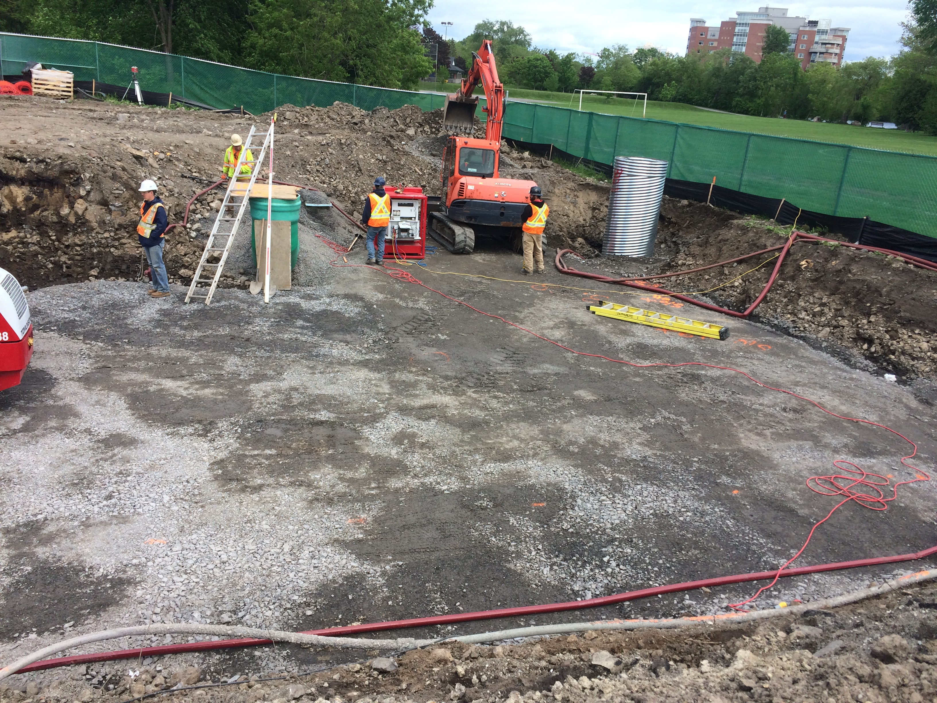 Construction of the new Odour Control Facility in Stanley Park