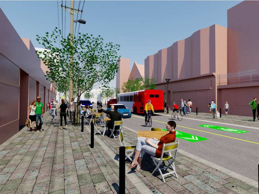 Rendering of the proposed redesign of Elgin Street