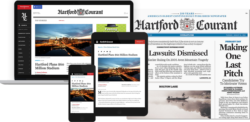 Hartford Courant In Print and Online