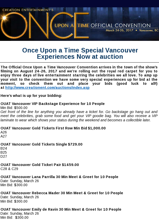 Once upon a time special vancouver experiences now at auction 8b1788452b1f98adfc10dbacd96a6771cc27f20dg m4hsunfo