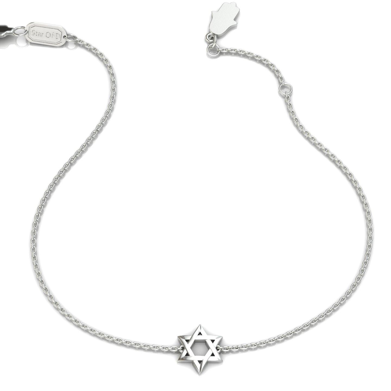 Star of David with a Natural Pear Shape Gem Gold Bracelet
