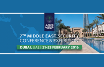 ASIS Middle East 2016: 21-23 February 2016