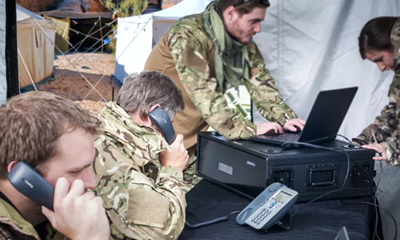 Spectra voice and data communications secure against hostilities