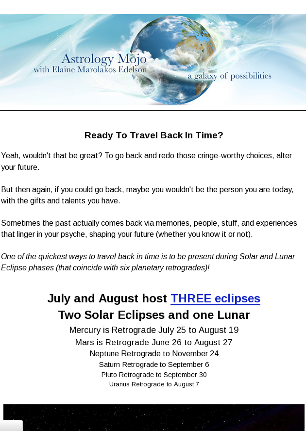 Ready To Travel Back in Time? [Eclipse energy]