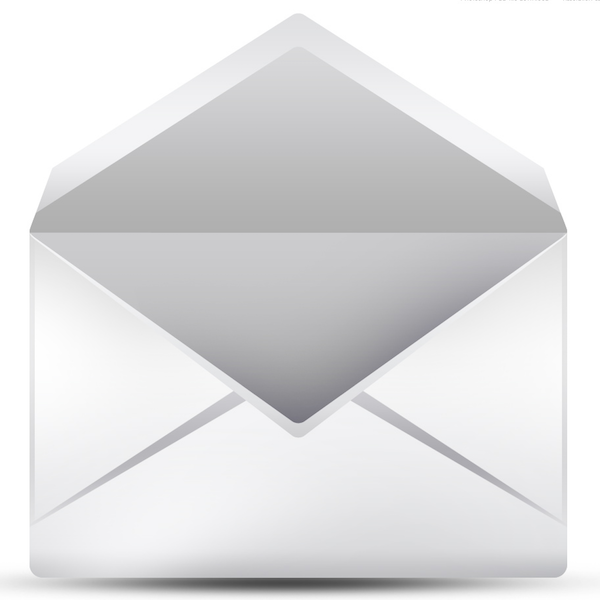 email icon gray with white
