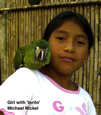 Girl with lorito