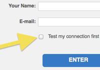 Webinar test connection