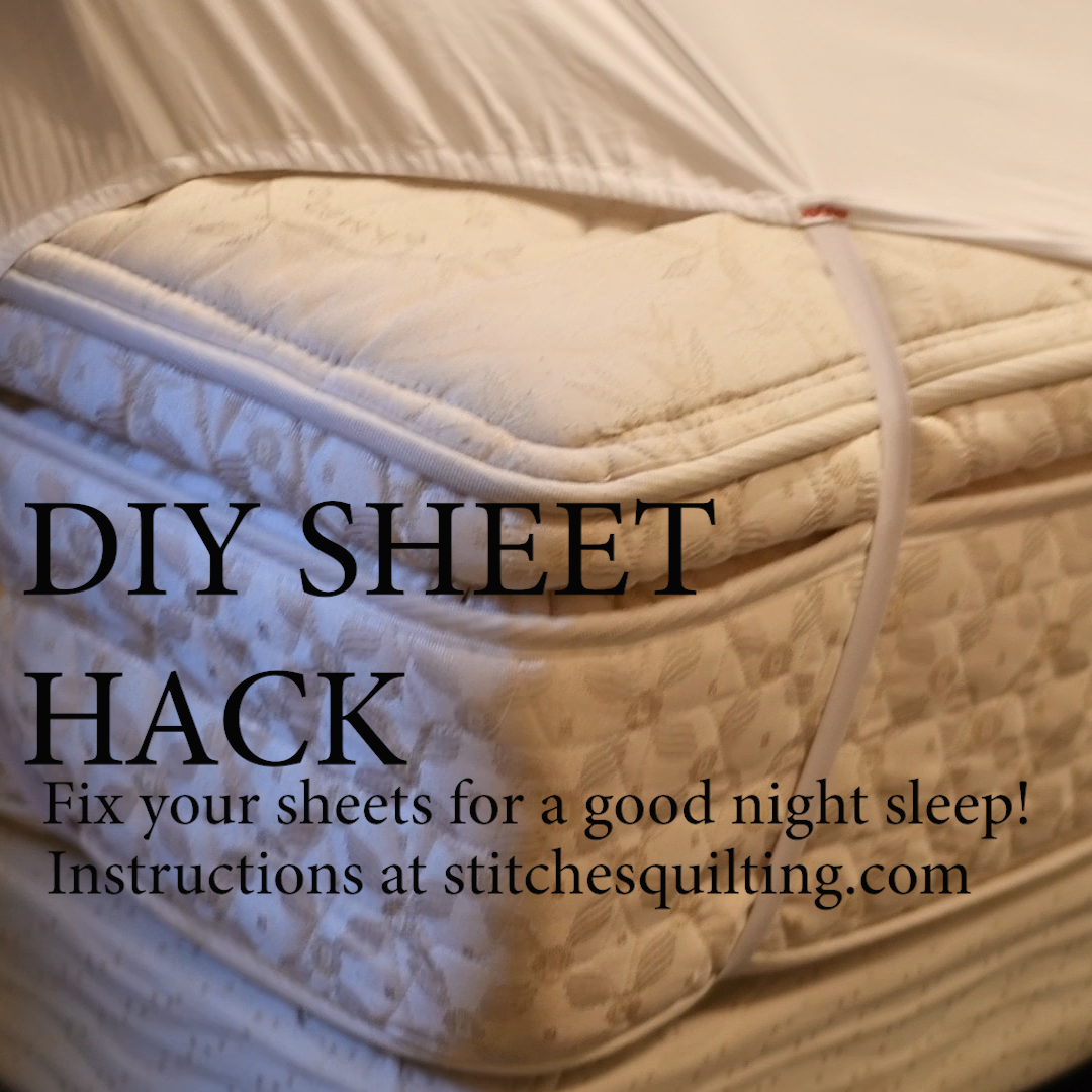 Diy Fitted Sheet Hack Stay Put Stitches Quilting