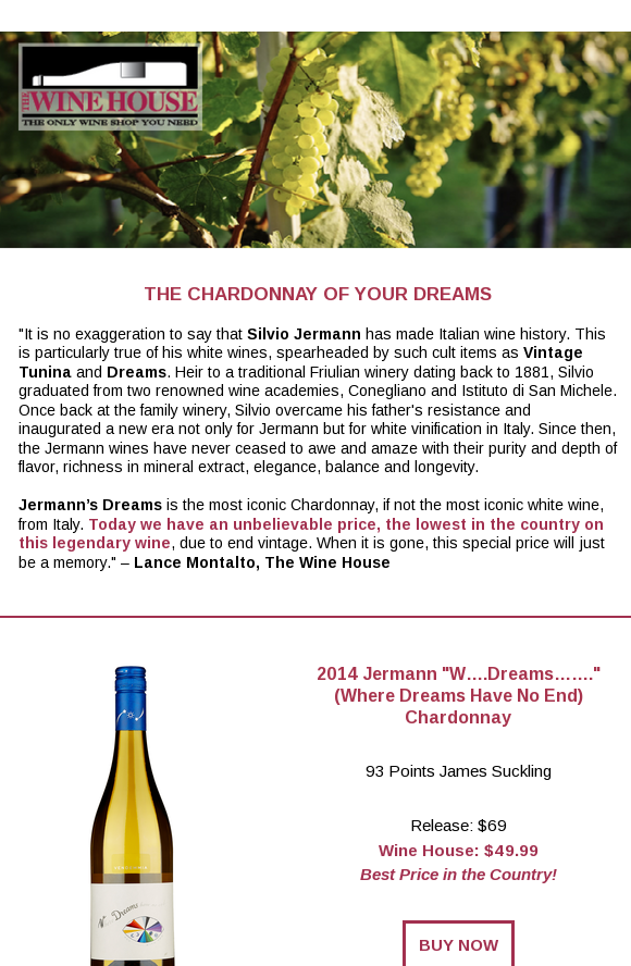 Best Price In The Country On Legendary Italian Chardonnay