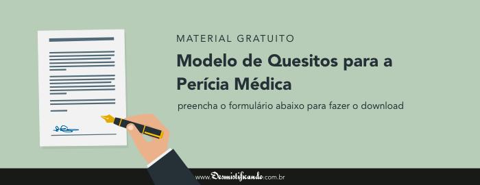 Modelo De Quesitos Para A Perícia Médica Desmistificando O