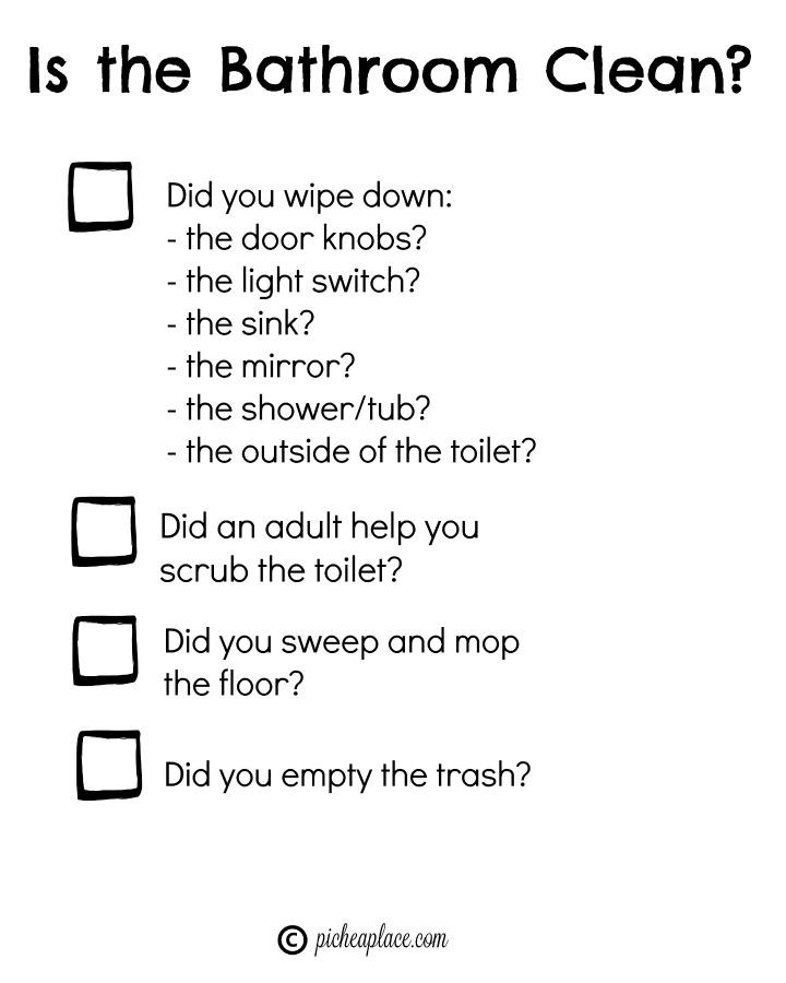High Quality Teaching Kids To Clean The Bathroom