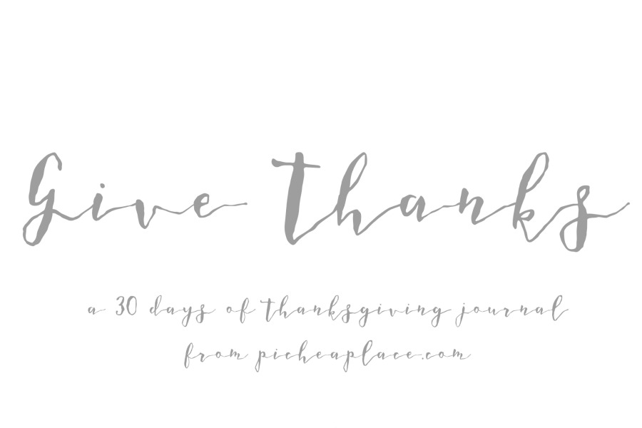 Give Thanks A 30 Days Of Thanksgiving Journal
