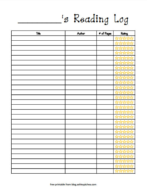 photograph about Reading Log Printable named Absolutely free Printable Examining Log