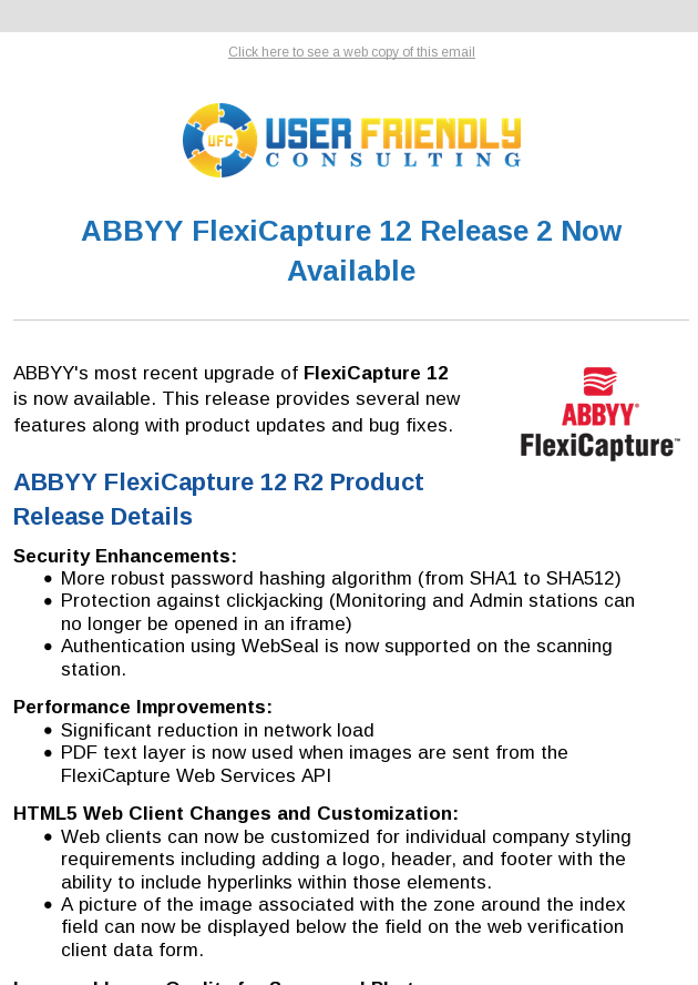 ABBYY FlexiCapture 12 R2 Released
