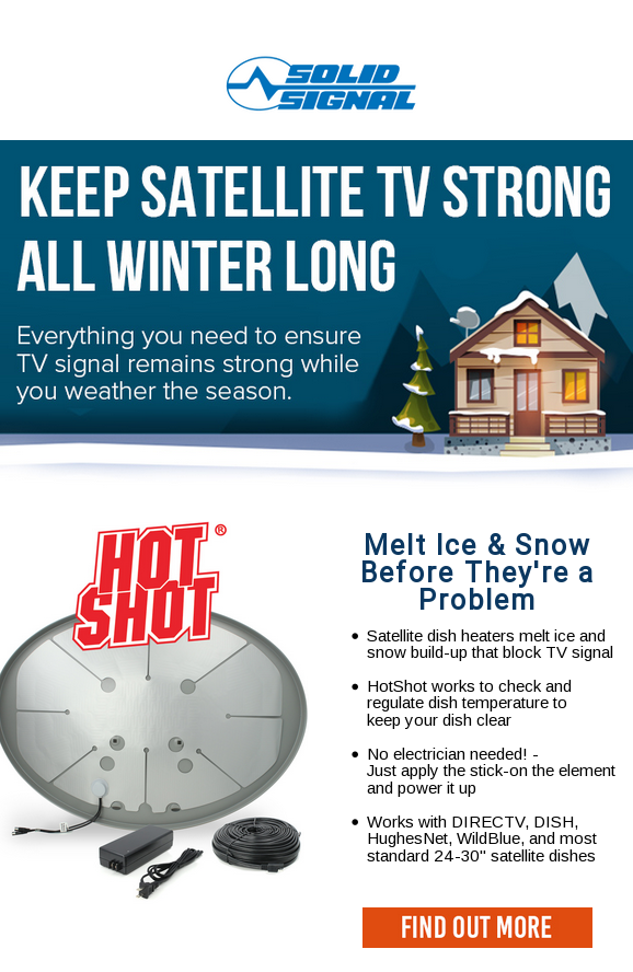 Keep Satellite Signal Strong All Winter Long