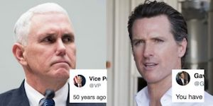 Pence and Newsom
