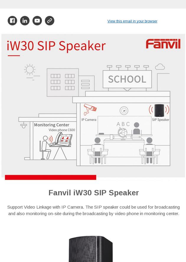 Meet Fanvil iW30 SIP speaker with built-in HiFi, maximum 30W