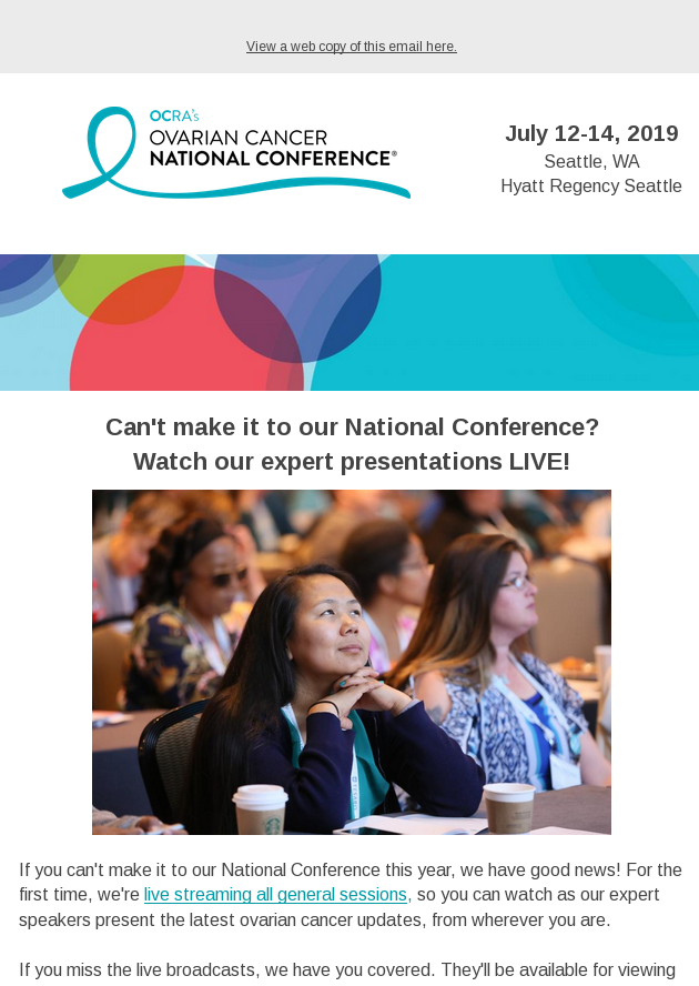 You Can Watch Our National Conference Sessions Live From Wherever You Are