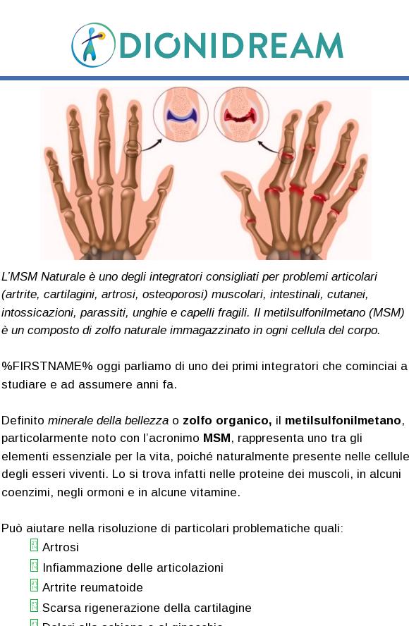 Msm L Integratore Per Ginocchia Artrite Rigenerare La Cartilagine E Ridurre L Infiammazione