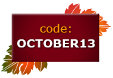 Use code OCTOBER13 at checkout to save $5 on your next order of $30 or more!