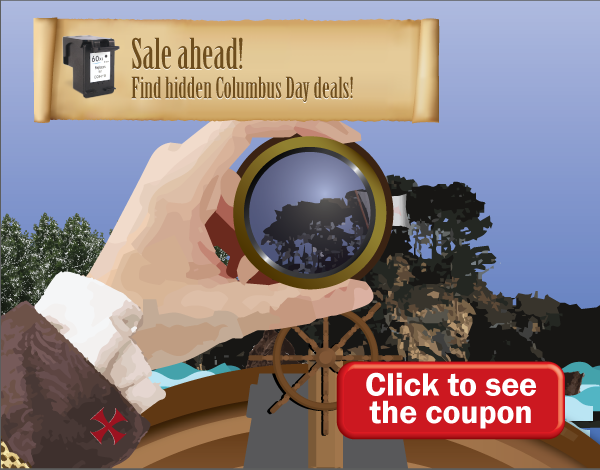 click to find hidden columbus day deals