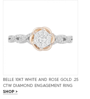Belle 10KT White and rose gold .25 ctw Diamond Engagement Ring