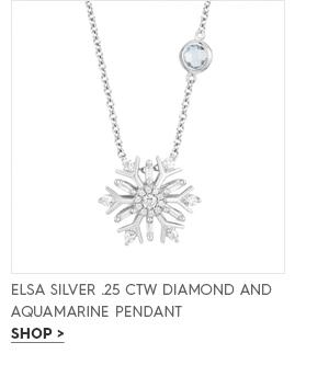 Elsa silver .25 CTW diamond and aquamarine pendant