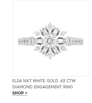 Elsa 14KT white gold .63 CTW diamond engagement ring