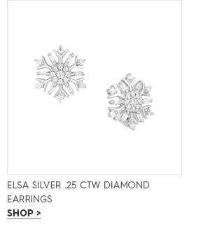 Elsa silver .25 CTW diamond snowflake earrings