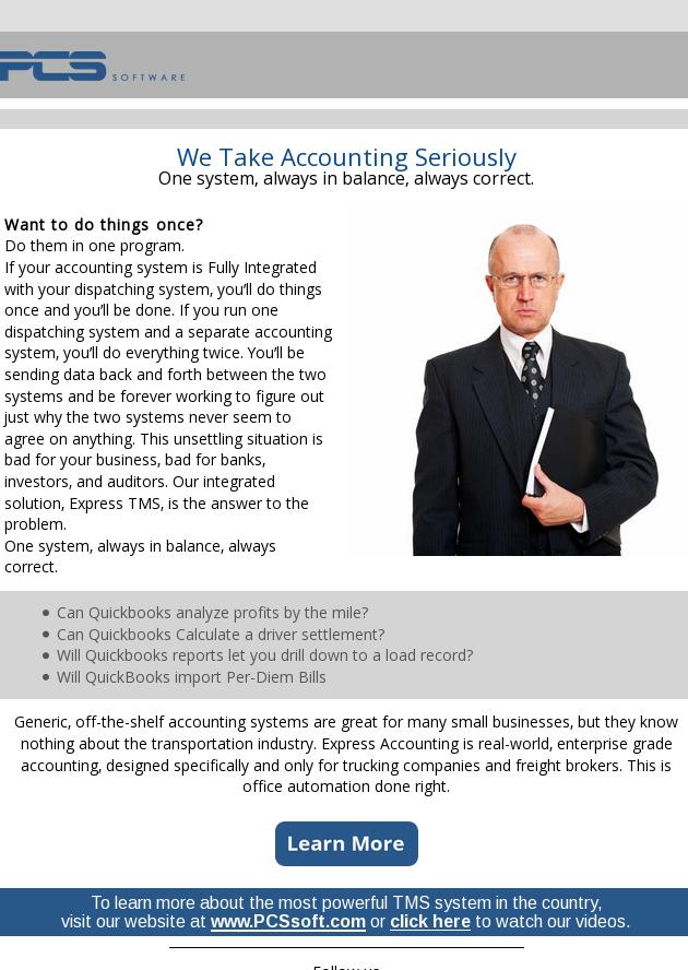We Take Accounting Seriously