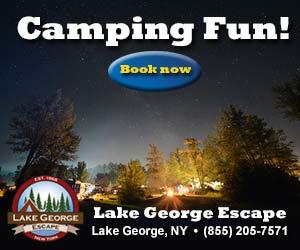 Camping Fun at Lake George Escape >>