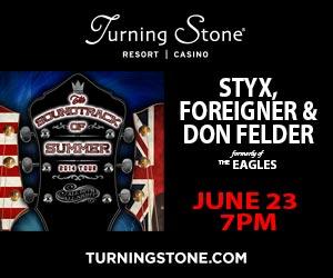 Styx, Foreigner & Don Felder at Turning Stone June 23 >>