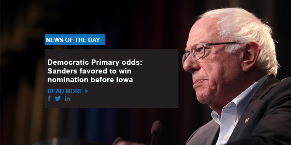 Democratic Primary odds: Sanders favored to win nomination before Iowa