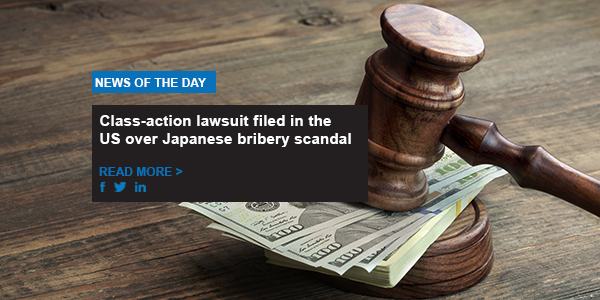 Class-action lawsuit filed in the US over Japanese bribery scandal