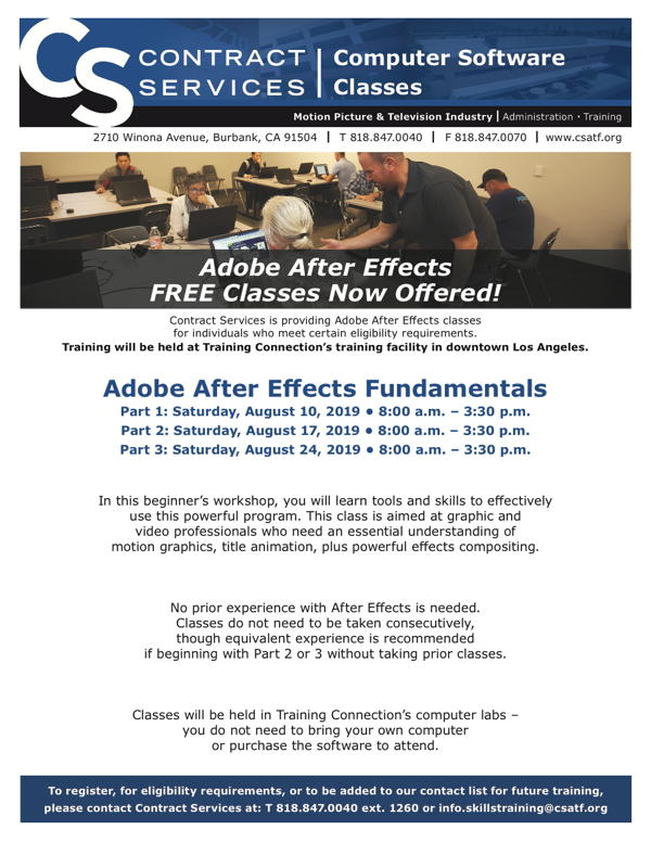 Adobe After Effects Fundamentals - Aug 10, 17, and 24 | Make