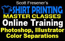 T-Shirt Printing Master Classes