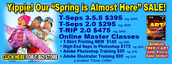 T-Biz Spring Sale