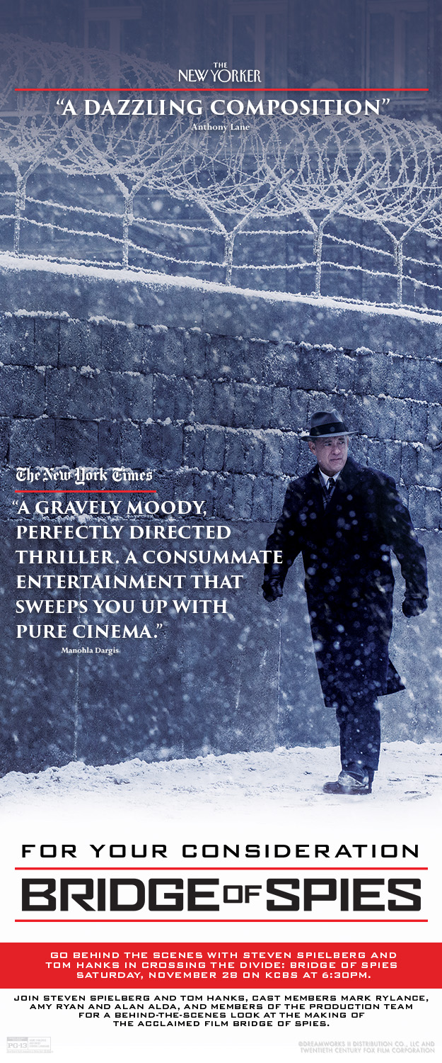 BRIDGE OF SPIES FYC Screening Invite Image
