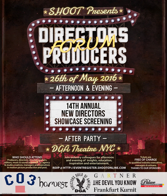 2016 SHOOT DIRECTOR/PRODUCERS Forum & NDS Event Advertisement